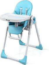 Costway Chaise Haute Bébé Evolutive 2 en 1 en