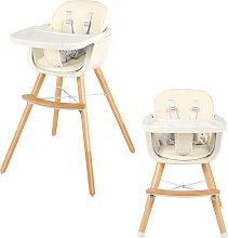 Costway Chaise Haute Evolutive en Bois pour Bébé