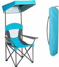 Costway  chaise pliante avec pare soleil,chaise de