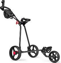 Costway Chariot de Golf à 3 Roues Pliable avec