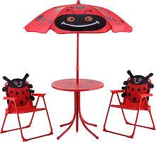 Costway Ensemble 2 Chaises et 1 Table pour enfant
