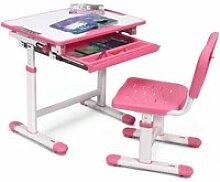 Costway ensemble bureau et chaise pour enfant avec