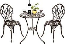 Costway Ensemble meubles de jardin avec 1 table et
