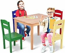 COSTWAY Ensemble Table et 2 Chaises Enfant en MDF