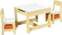 Costway Ensemble Table et 2 Chaises pour Enfant en