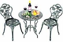 COSTWAY Ensemble Table et 2 Chaises pour Jardin en