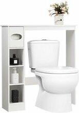 Costway étagère dessus toilette compacte avec 4