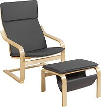Costway Fauteuil Relax Inclinable avec Repose-pied
