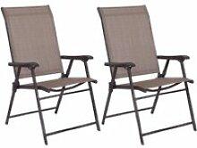 Costway lot de 2 chaises de jardin pliantes avec