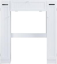 Costway Meuble WC Armoire de toilette placard de