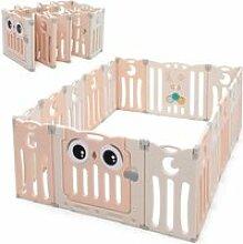 COSTWAY Parc pour Bébé Pliable 16 Panneaux en