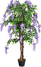 COSTWAY Plante Artificielle avec Fausses Fleurs
