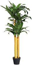 COSTWAY Plante artificielle avec Pot en Tissu de