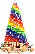 Costway Sapin de Noël Artificiel 210 cm Couleurs
