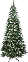Costway Sapin de Noël Artificiel 240cm avec