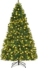 Costway Sapin de Noël Artificiel avec Lumières