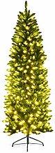 Costway Sapin de Noël Artificiel LED 210cm