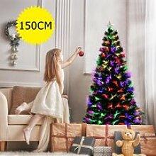 COSTWAY Sapin de Noël Artificiel Lumineux de 150