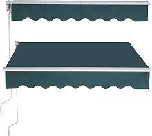 Costway Store Banne Rétractable 2 5 X 2M Tissu