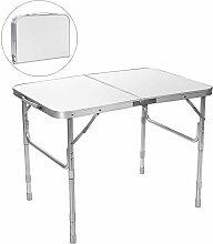 COSTWAY Table de Camping Pliante 90×60x65CM en