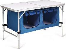 Costway Table de Camping Table Jardin Pliable et