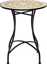 Costway Table de Jardin Style Mosaïque Cadre en