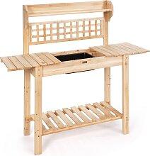 Costway Table de Rempotage en bois Table de