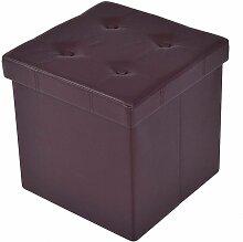 COSTWAY Tabouret de cube pouf pliable banc coffre