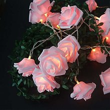 COSYOO 20 LED 9.84Ft Rose Fée Lumière Rose Chaud