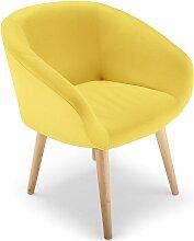 Cotecosy - Fauteuil scandinave jaune Fanica