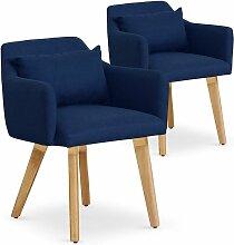 Cotecosy - Lot de 2 fauteuils scandinaves Gybson