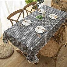Coton Et Lin Plaid Table en Tissu Minimaliste
