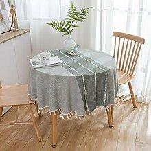 Coton Style Japonais et Lin Nappe Grise Tissu