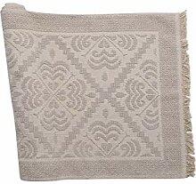 COTTON ROYAL Tapis sarde écru,100X 150 cm Relief