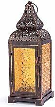 Couleur Bronze Lanterne à bougie en verre Vieille