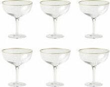 Coupe à champagne Decò / Set de 6 - H 12,4 cm -