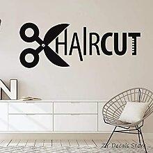 Coupe De Cheveux Vinyle Décalcomanie Salon De