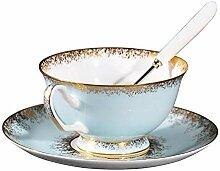 Coupe en céramique bleue, tasse de café,