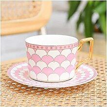 Coupe et soucoupe Ensemble de tasse de café