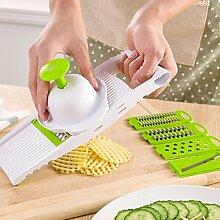 Coupe-légumes 5 lames en acier inoxydable
