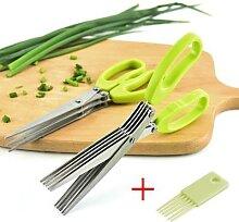 Coupe oignon vert, ciseaux de cuisine, coupe