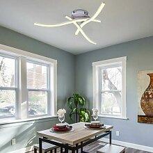 Courbé 21W Blanc Chaud Plafonnier LED, Lampe de