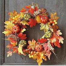 Couronne d'automne de feuille d'érable
