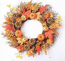 Couronne d'automne en érable artificiel,