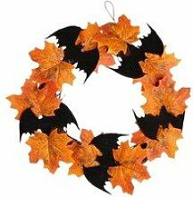 Couronne d'halloween, halloween feuille