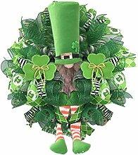 Couronne de fête de la Saint-Patrick en bois -