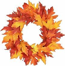 Couronne de feuilles d'érable pour Halloween,