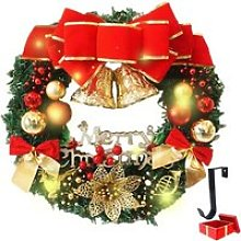 Couronne de Noël Décoration Lumineuse, Morbuy