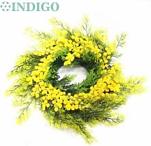 Couronne de noël jaune Mimosa, vente Exclusive
