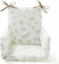 Coussin chaise haute bébé coton bio figuier